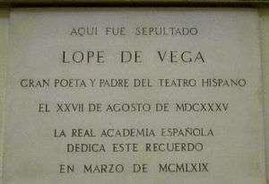 Lope de Vega, iglesia de San Sebastián